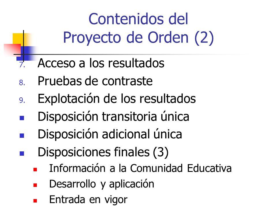 Contenidos del Proyecto de Orden (2)