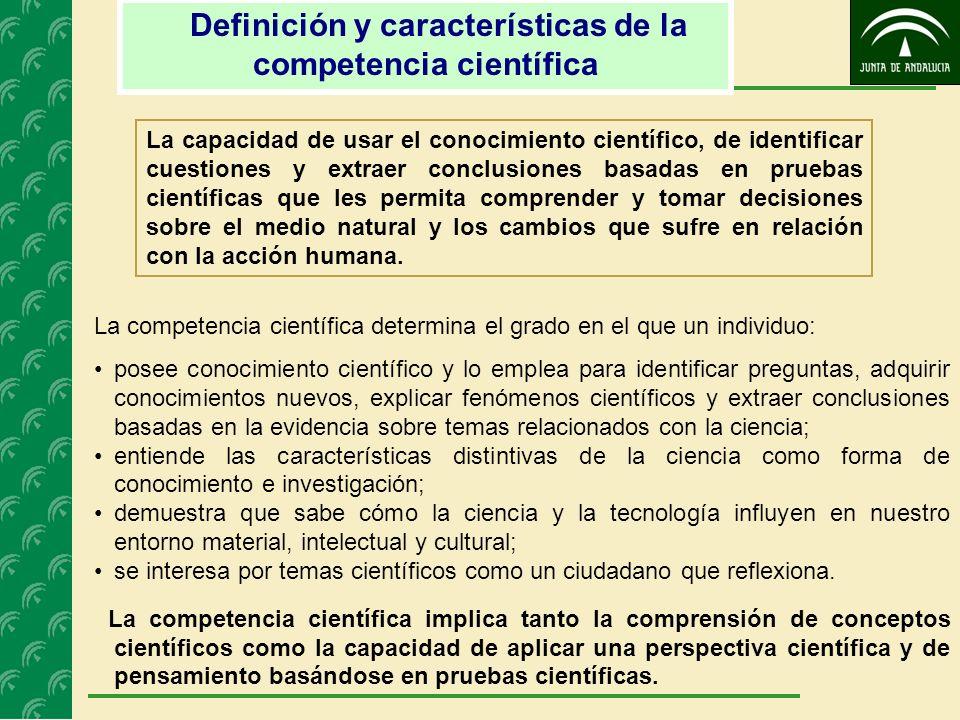 Definición y características de la competencia científica