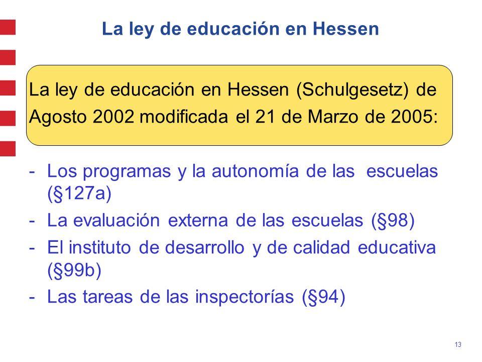 La ley de educación en Hessen