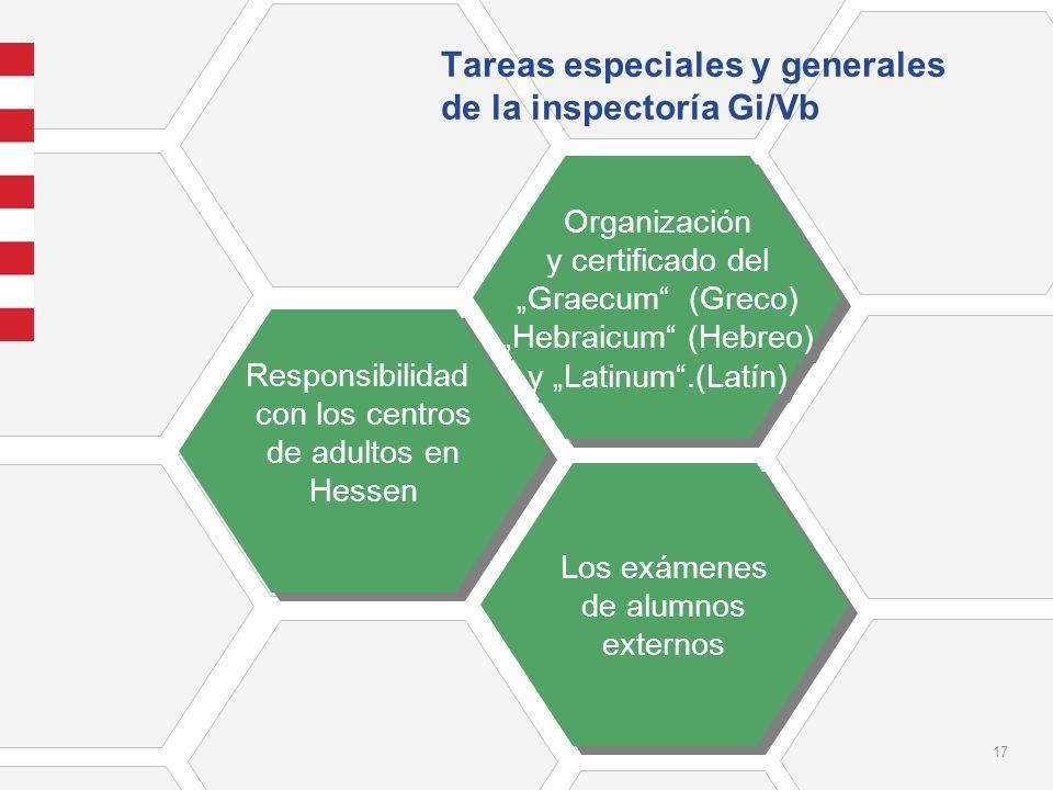 Tareas especiales y generales de la inspectoría Gi/Vb