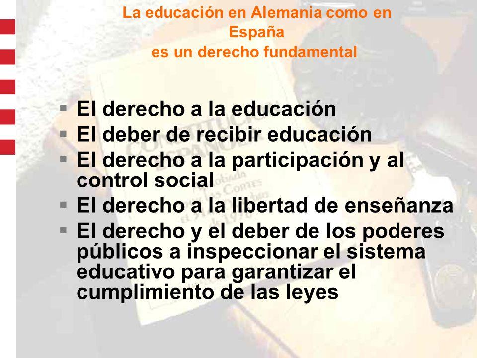 La educación en Alemania como en España
