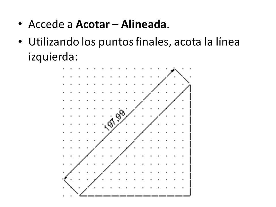 Accede a Acotar – Alineada.