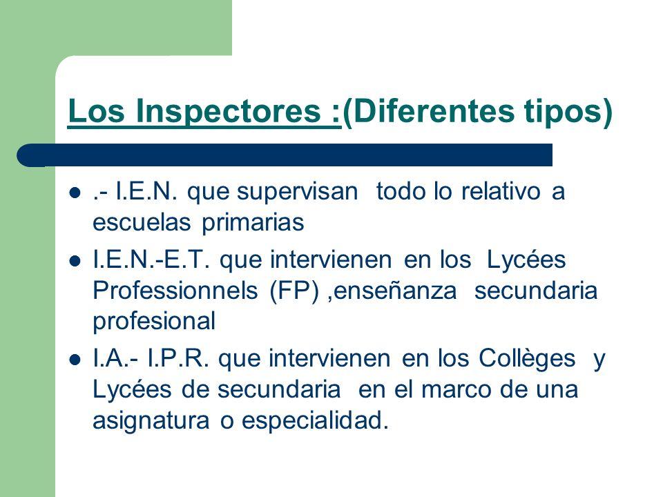 Los Inspectores :(Diferentes tipos)
