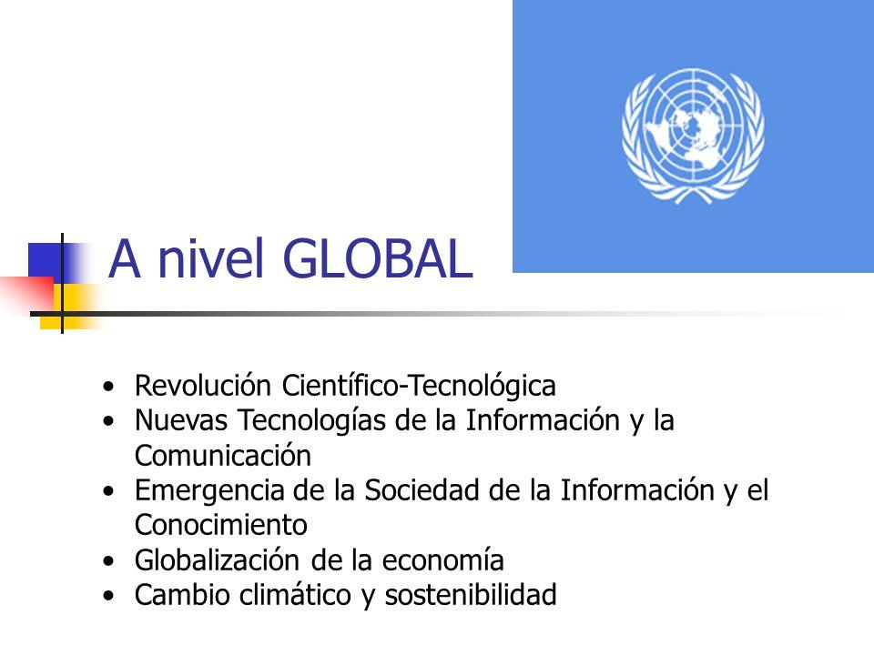 A nivel GLOBAL Revolución Científico-Tecnológica