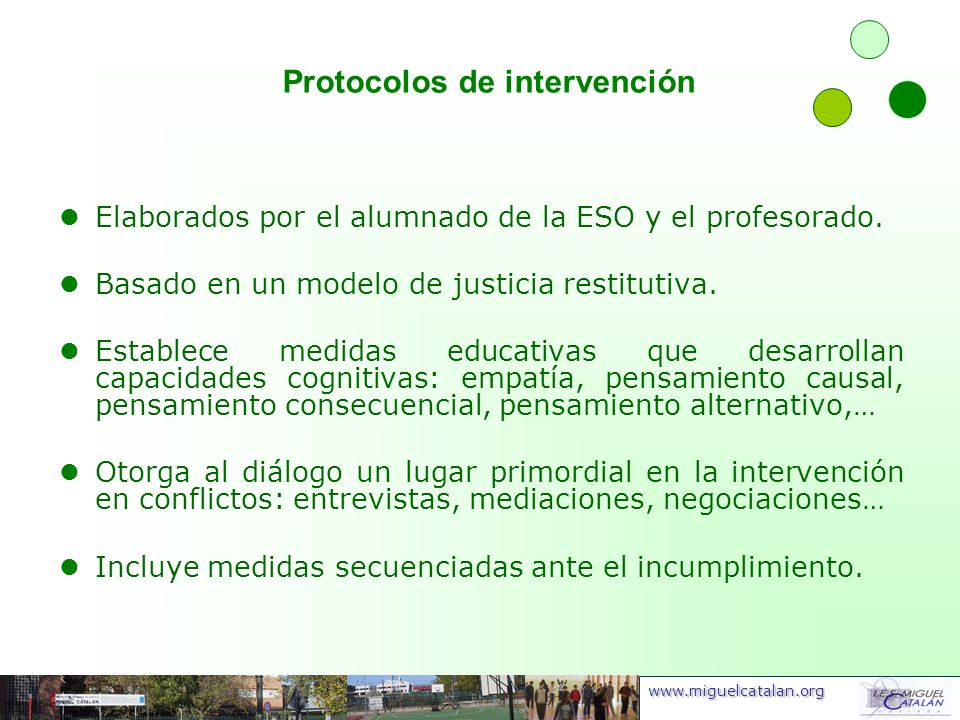 Protocolos de intervención