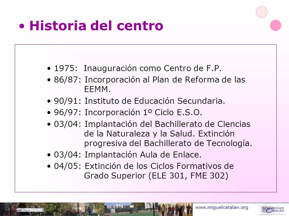 Historia del centro 1975: Inauguración como Centro de F.P.
