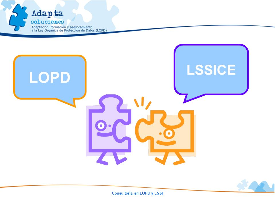 LSSICE LOPD