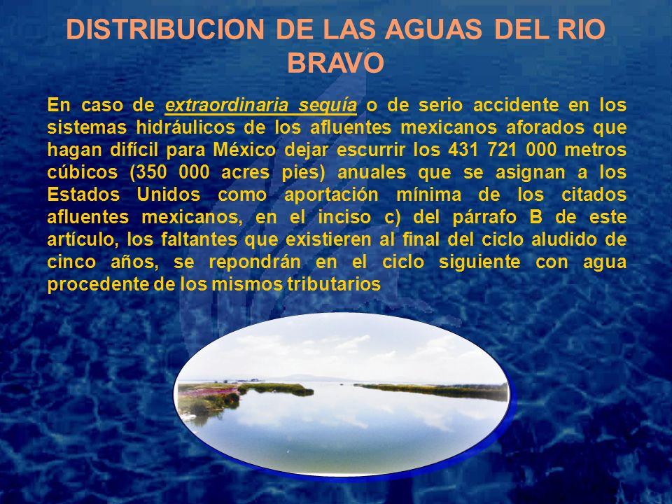 DISTRIBUCION DE LAS AGUAS DEL RIO BRAVO