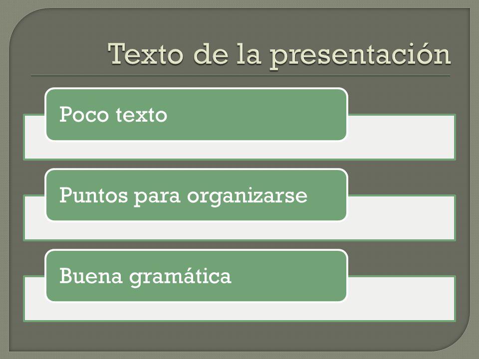 Texto de la presentación