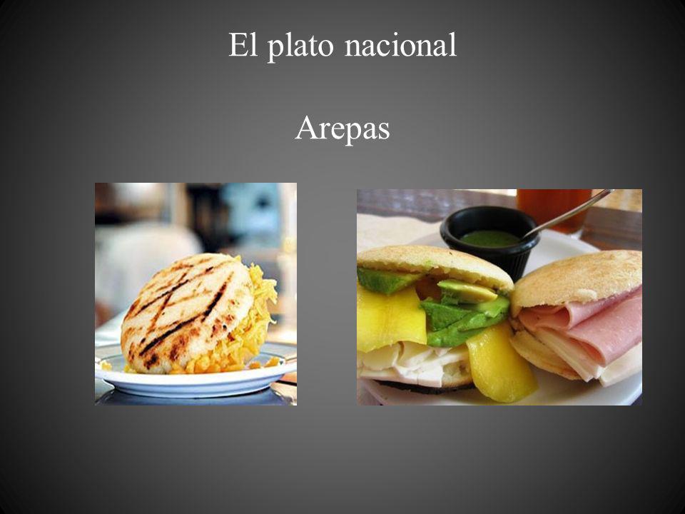 El plato nacional Arepas