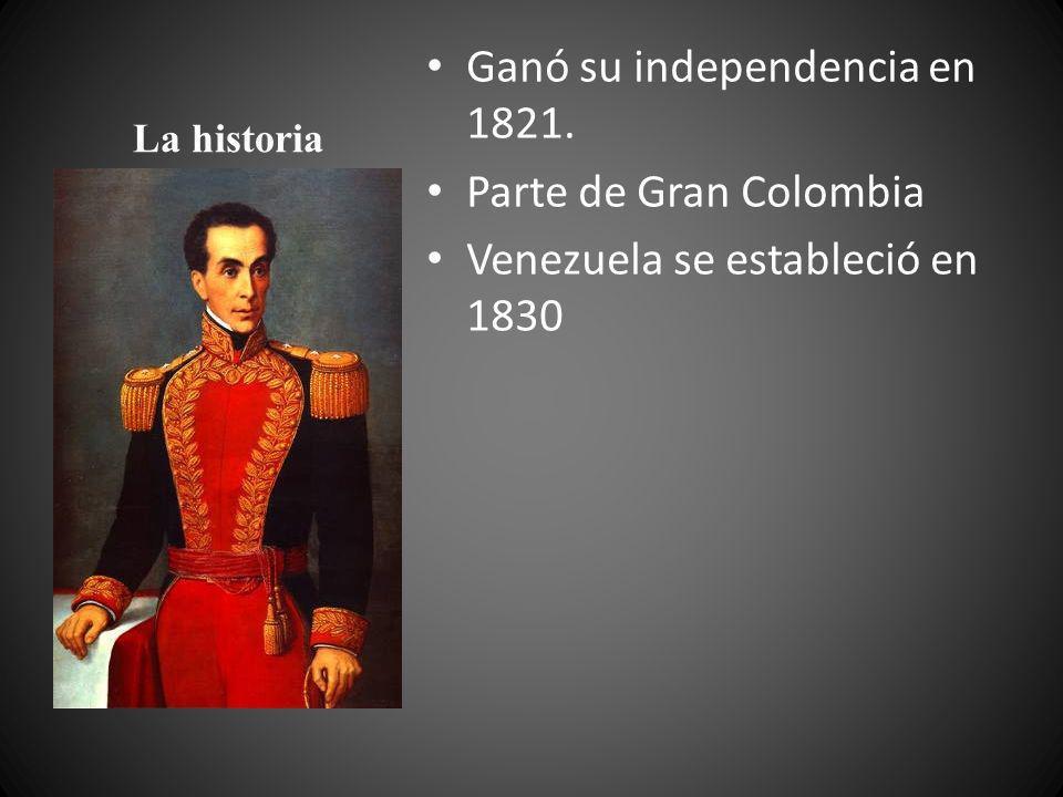 Ganó su independencia en 1821. Parte de Gran Colombia