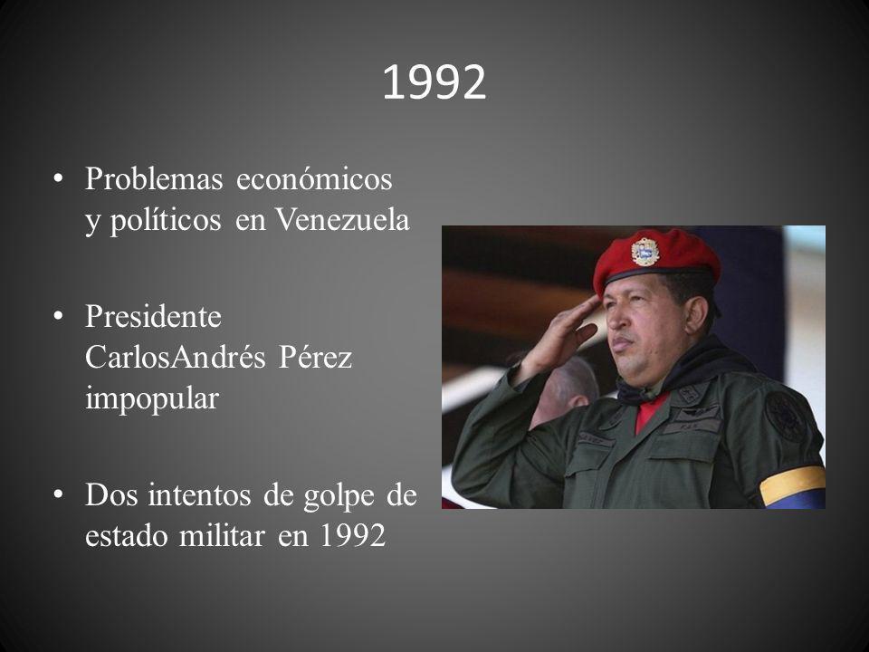 1992 Problemas económicos y políticos en Venezuela