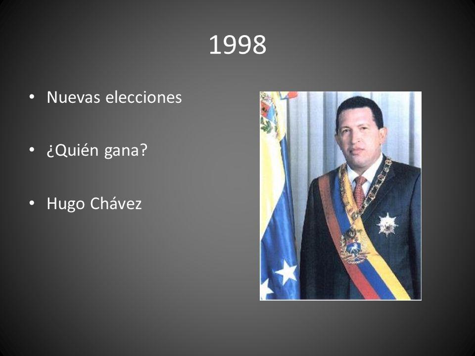 1998 Nuevas elecciones ¿Quién gana Hugo Chávez