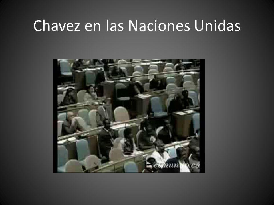 Chavez en las Naciones Unidas