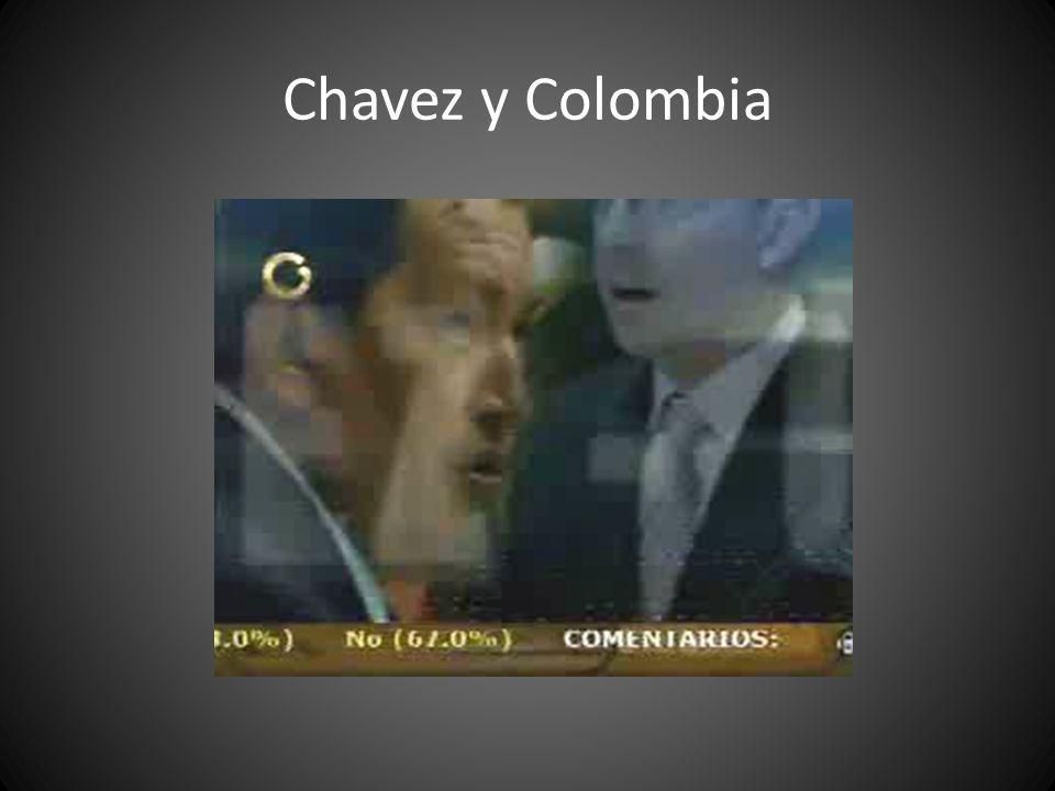 Chavez y Colombia