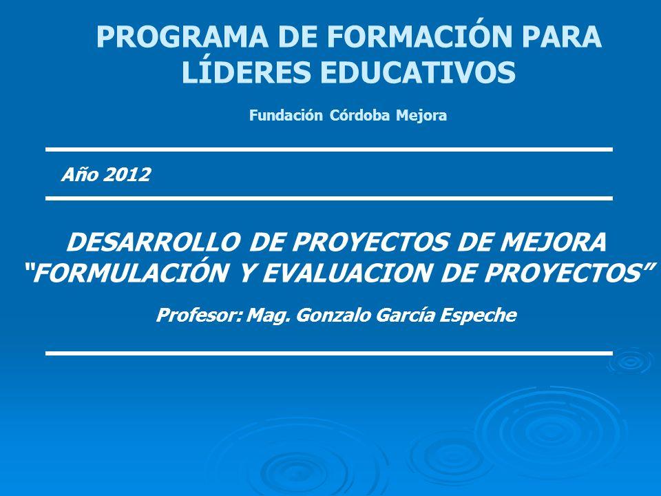 PROGRAMA DE FORMACIÓN PARA LÍDERES EDUCATIVOS