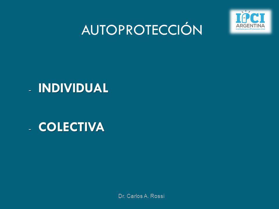 AUTOPROTECCIÓN INDIVIDUAL COLECTIVA Dr. Carlos A. Rossi