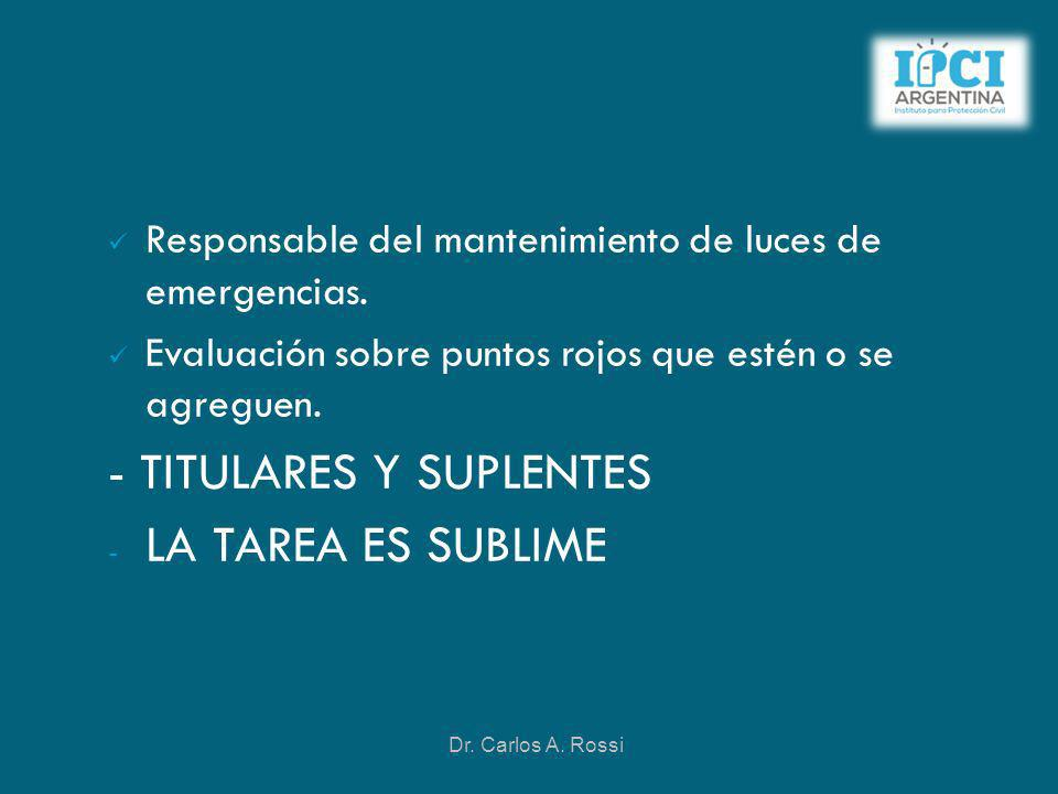 - TITULARES Y SUPLENTES LA TAREA ES SUBLIME