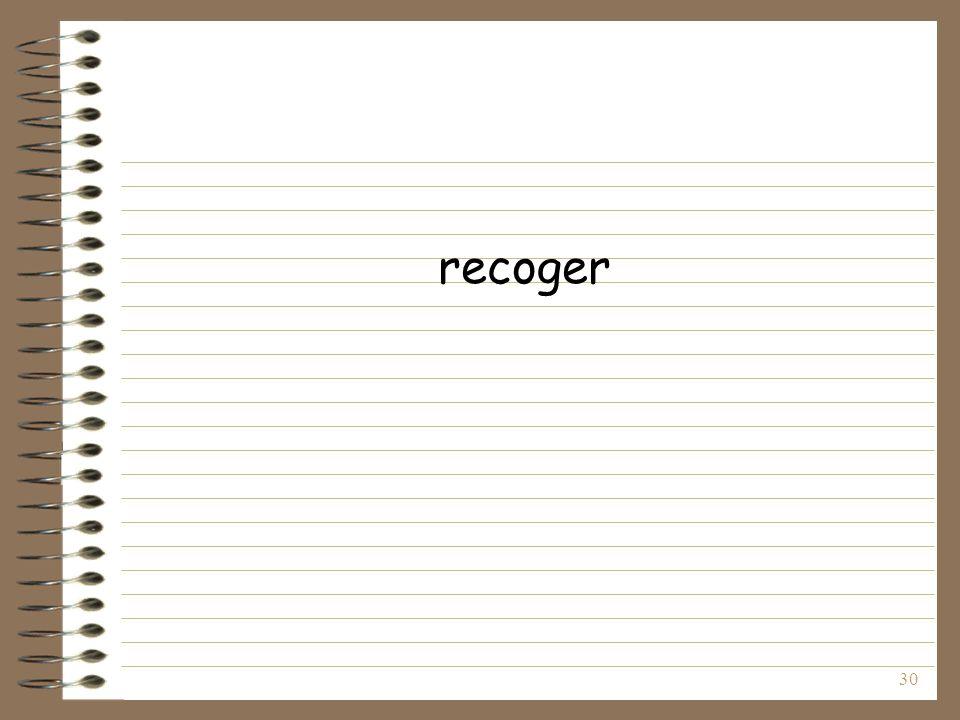 recoger