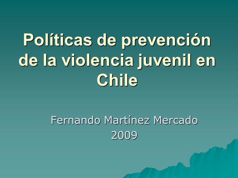 Políticas de prevención de la violencia juvenil en Chile