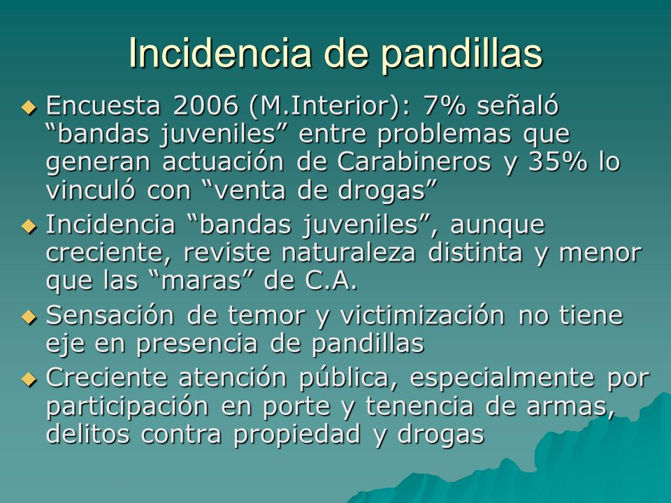 Incidencia de pandillas