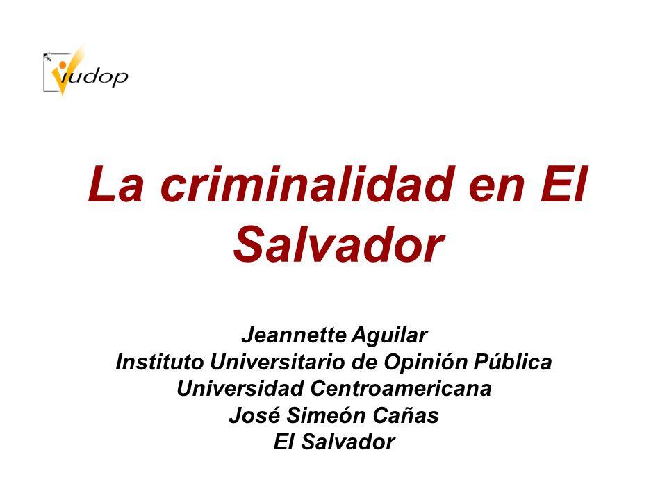 La criminalidad en El Salvador