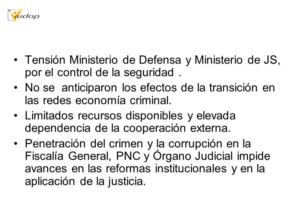 Tensión Ministerio de Defensa y Ministerio de JS, por el control de la seguridad .