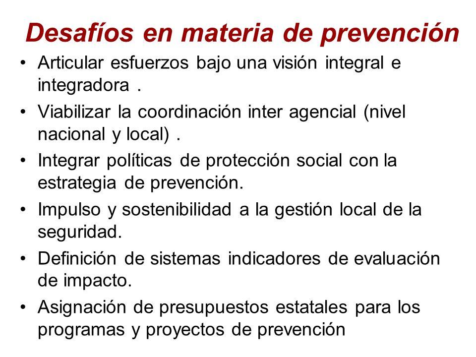 Desafíos en materia de prevención