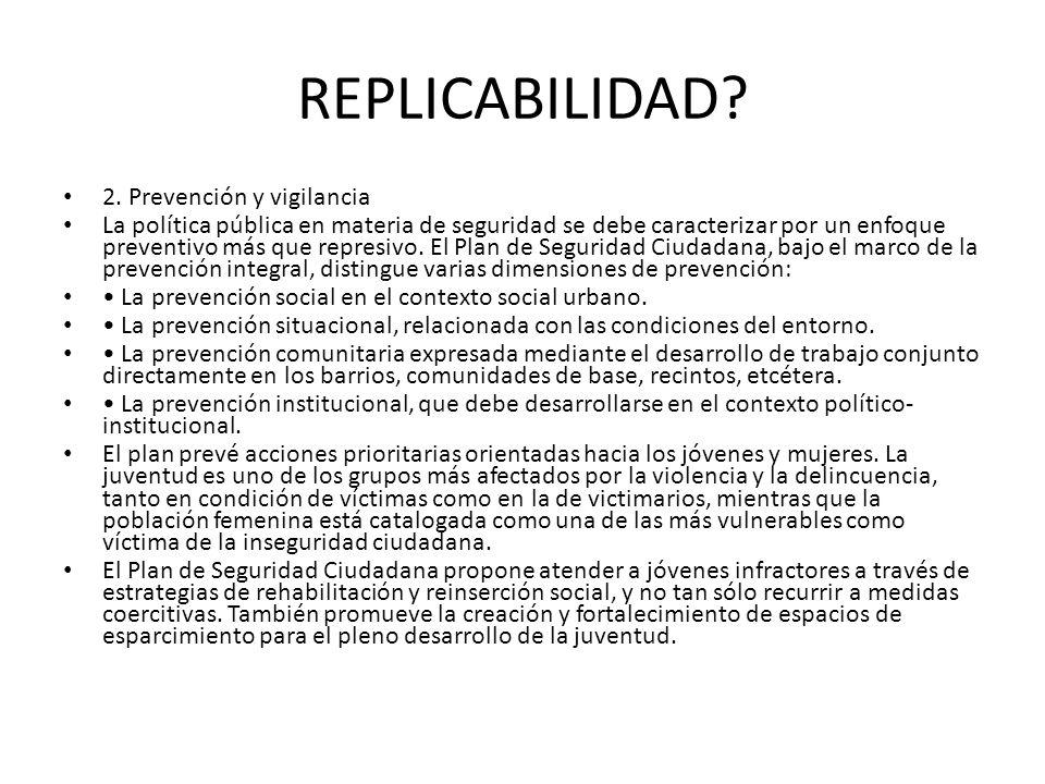 REPLICABILIDAD 2. Prevención y vigilancia