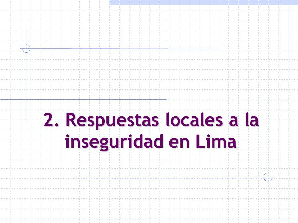 2. Respuestas locales a la inseguridad en Lima