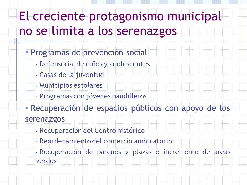 El creciente protagonismo municipal no se limita a los serenazgos