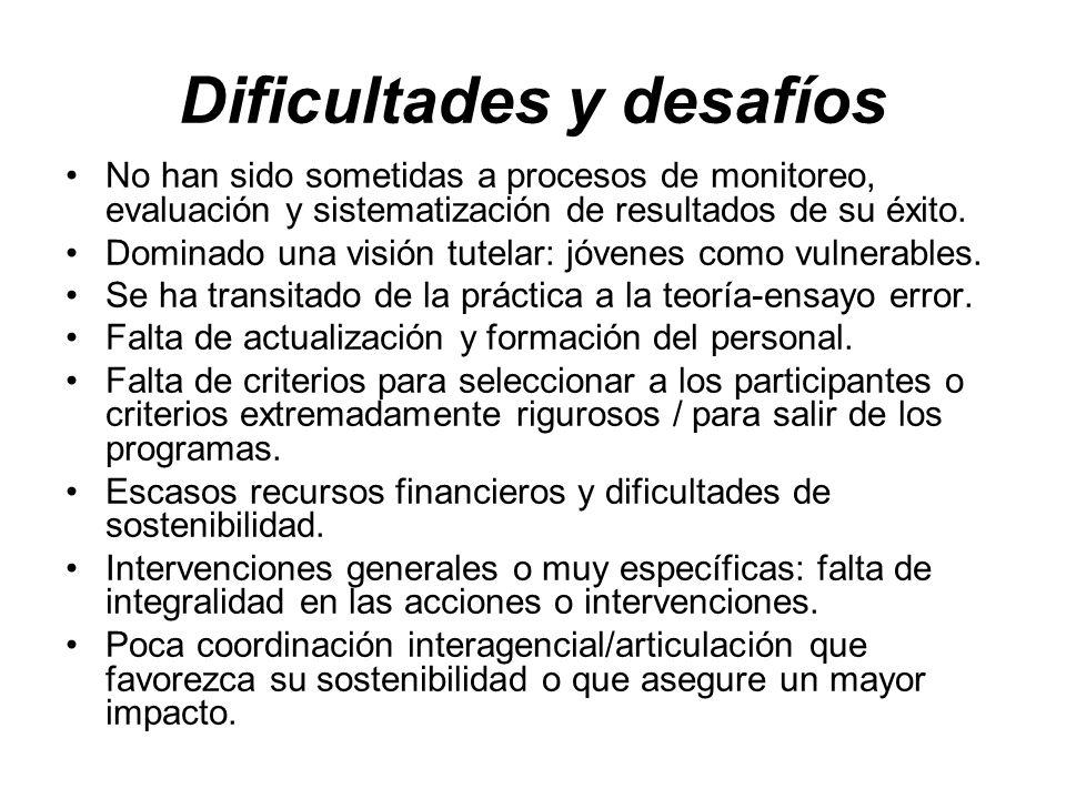 Dificultades y desafíos