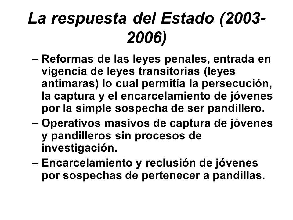 La respuesta del Estado (2003-2006)