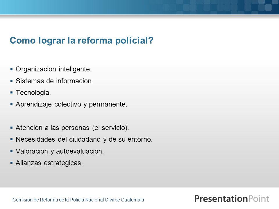 Como lograr la reforma policial
