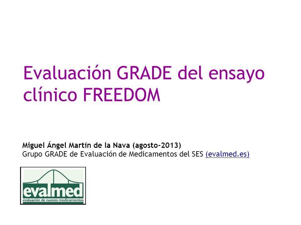 Evaluación GRADE del ensayo clínico FREEDOM