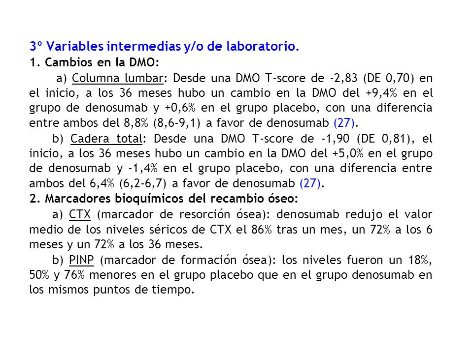 3º Variables intermedias y/o de laboratorio.