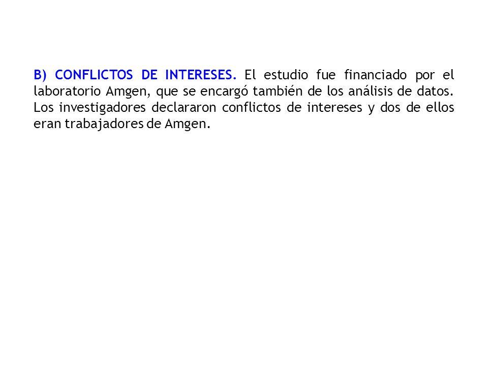 B) CONFLICTOS DE INTERESES