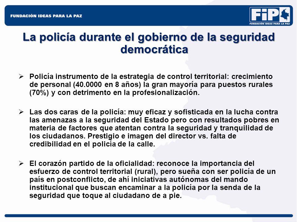 La policía durante el gobierno de la seguridad democrática