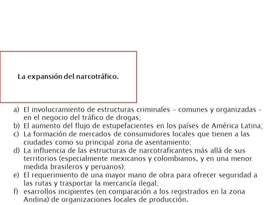La expansión del narcotráfico.