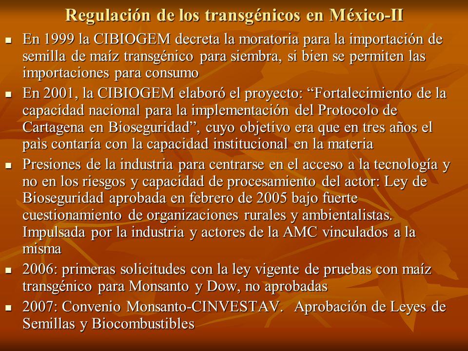 Regulación de los transgénicos en México-II