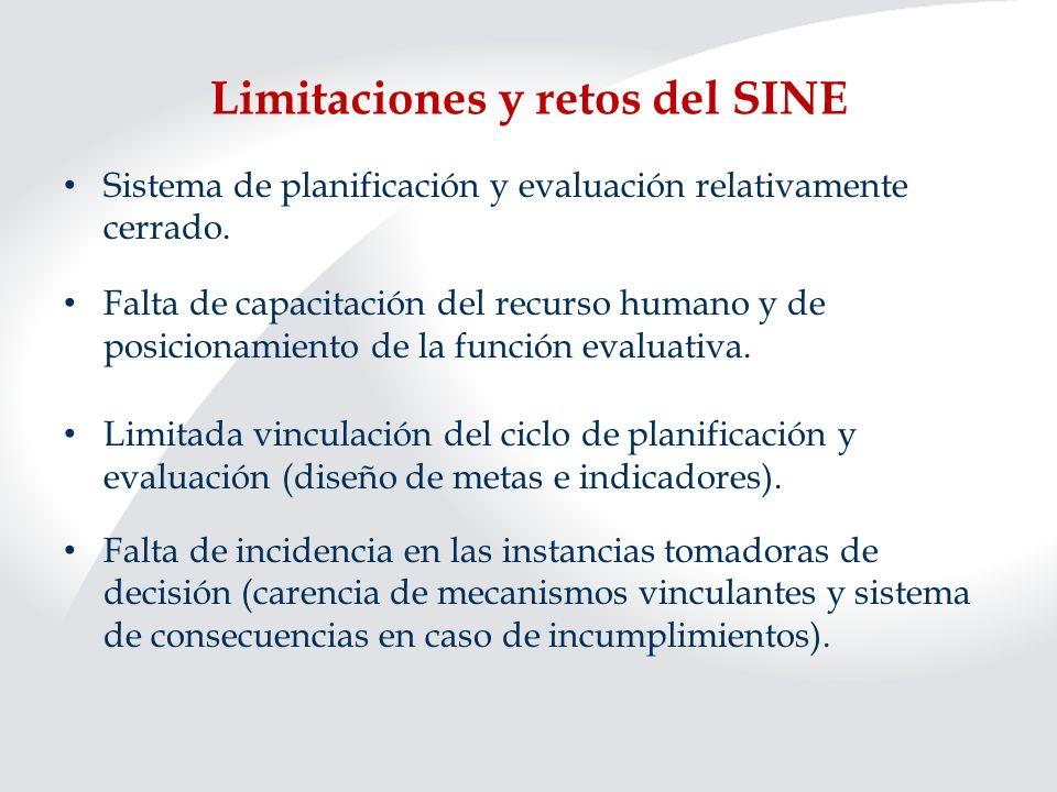 Limitaciones y retos del SINE