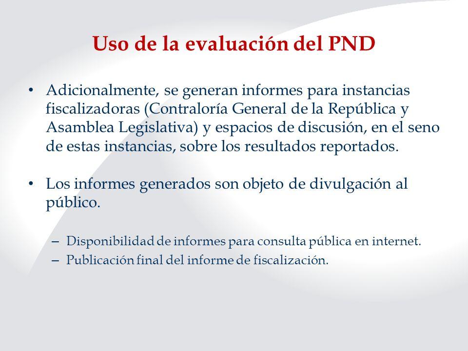 Uso de la evaluación del PND