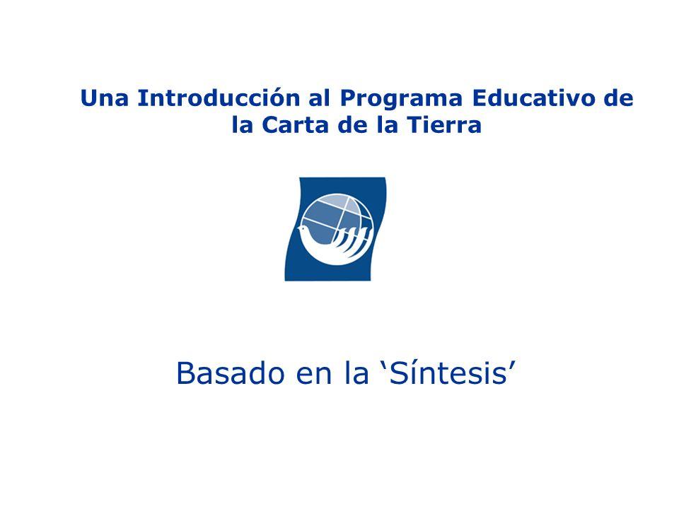 Una Introducción al Programa Educativo de la Carta de la Tierra
