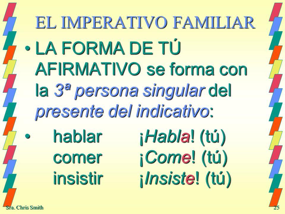 EL IMPERATIVO FAMILIAR