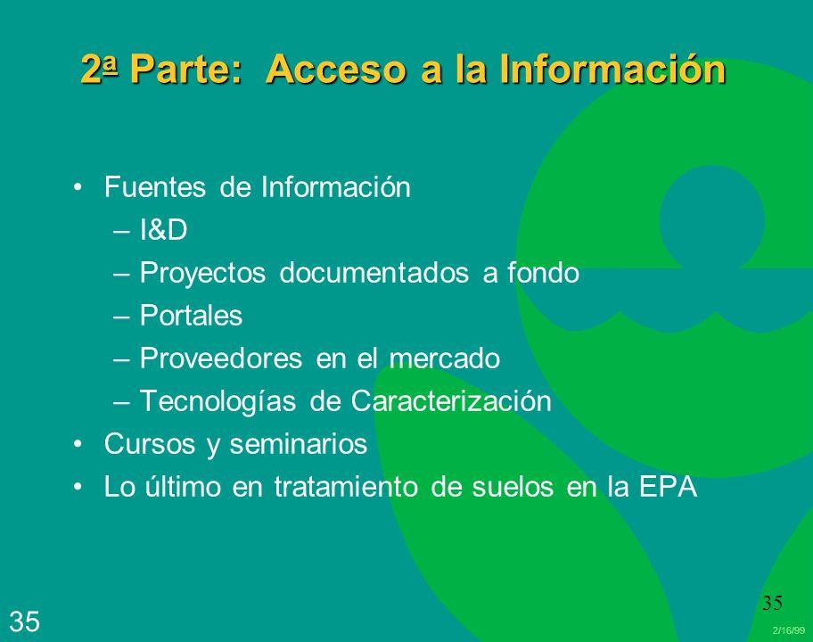 2a Parte: Acceso a la Información
