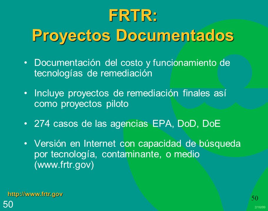 FRTR: Proyectos Documentados