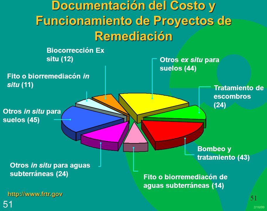 Documentación del Costo y Funcionamiento de Proyectos de Remediación