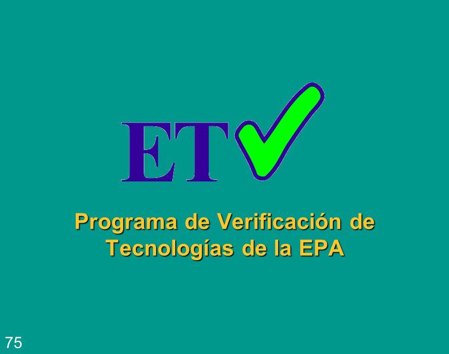Programa de Verificación de Tecnologías de la EPA