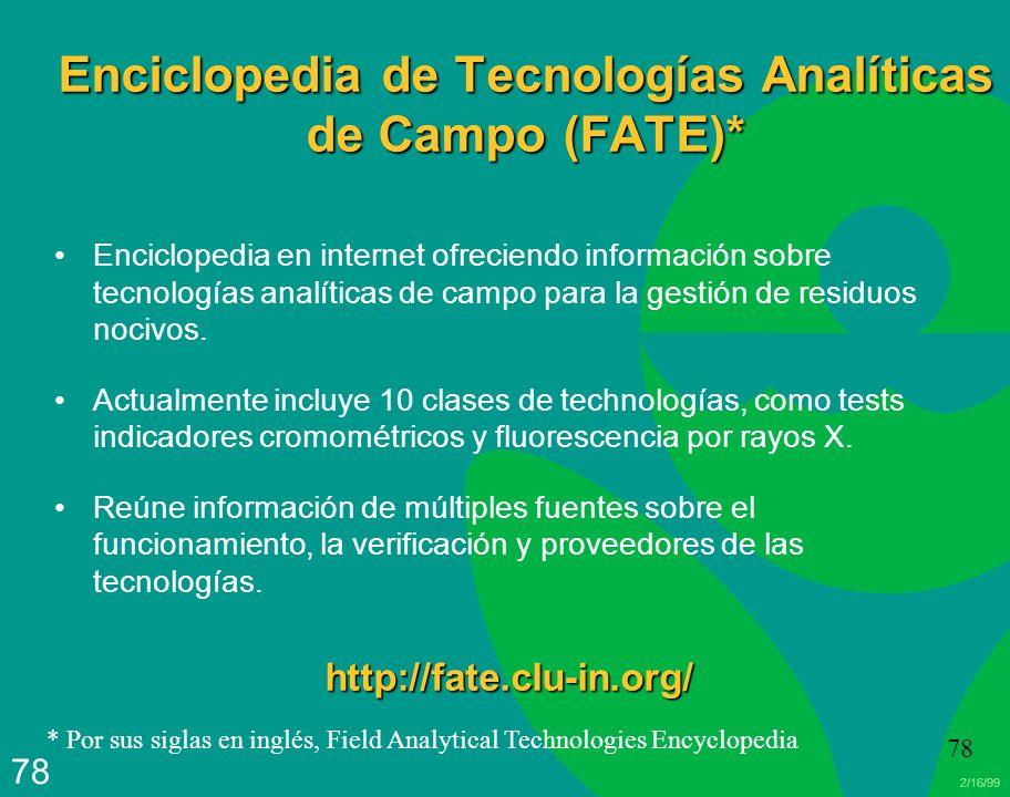 Enciclopedia de Tecnologías Analíticas de Campo (FATE)*