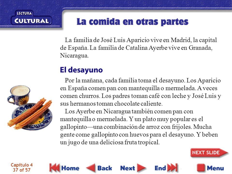La familia de José Luis Aparicio vive en Madrid, la capital de España